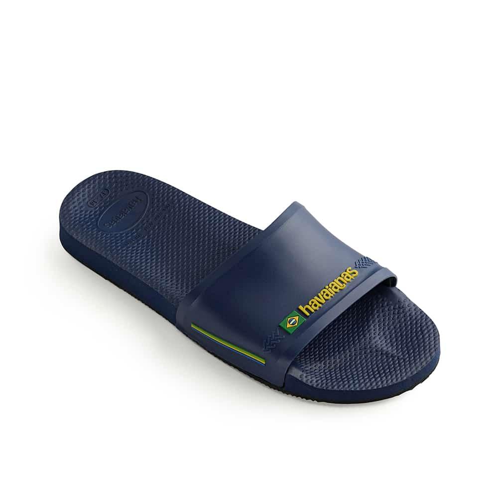 Havaianas Slide Brasil Navy Blue