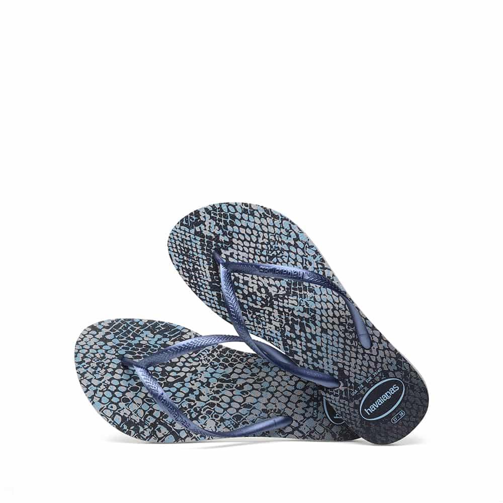 Havaianas Slim Animals Grey/Navy Blue