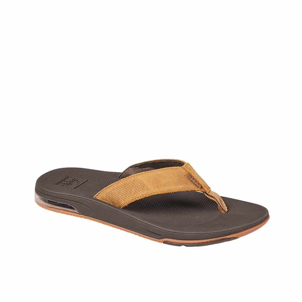 Reef Leather Fanning Low Brown