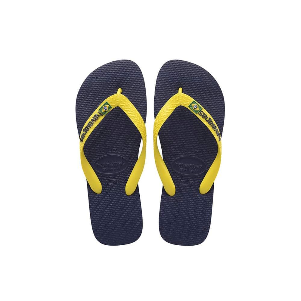 Havaianas Brasil Logo Navy Blue/Citrus Yellow